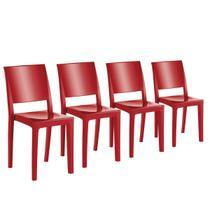 Conjunto 4 Cadeiras Uz Utilidades UZ4002-13 Hydra Plus Vermelha -