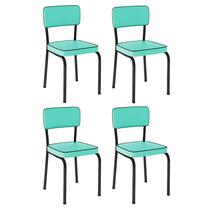 Conjunto 4 Cadeiras Vintage Verdes - Pantdesign