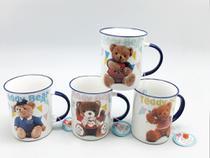 Conjunto 4 Canecas Cerâmica Decorada Teddy Bear Urso 340 ML - Globimport