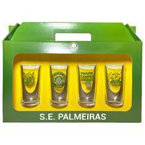 Conjunto 4 Copos Vidro Long Drink Palmeiras Porco - Historia 300ml Licenciado - Allmix