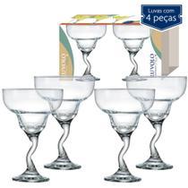 Conjunto 4 Taças de Margarita Twister Vidro 300ml - ruvollo glass