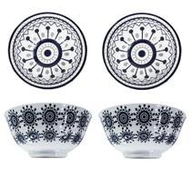 Conjunto 4 Tigelas Bowl Cumbuca Porcelana 600 ml Luxo Importada Verona CH1351-6 / 01 - Santa cecilia