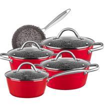 Conjunto 5 Peças MTA Granito Stoneflon Antiaderente Por Indução Profissional -