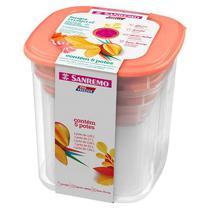 Conjunto 5 Potes Porta Alimentos Mantimentos Geladeira Cozinha Armário - 490 Sanremo -