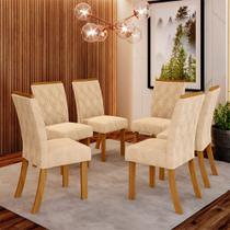 Conjunto 6 Cadeiras Estofadas Lupita Casa 812 -