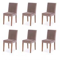Conjunto 6 Cadeiras Summer Tre Mobili Bege -