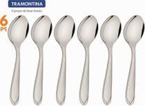 Conjunto 6 Colheres para Sobremesa Laguna Talheres Tramontina em Aço Inox - 63906/040 -