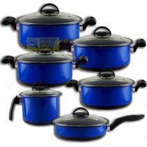 Conjunto 6 Panelas Cerâmica Tampa de Vidro fogão a gás cooktop indução lenha - Doce Lar -