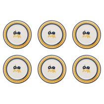Conjunto 6 Pratos De Sobremesa 19cm Biona Donna Giardino -