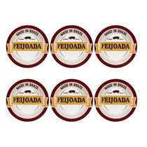 Conjunto 6 Pratos Fundos 23Cm Feijoada Premium Daily Oxford -