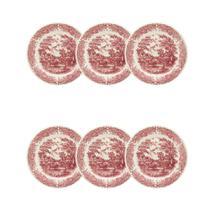 Conjunto 6 Pratos Sobremesa 19cm Vilarejo - Biona