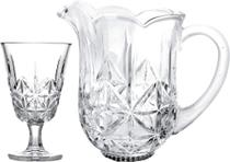 Conjunto 6 Taças 240ml e 1 Jarra 1,3 Litros de Vidro Iceland - Bon Gourmet -