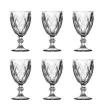 Conjunto 6 taças de vidro transparente Matelassê 280ml - Dynasty