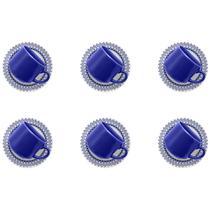 Conjunto 6 Xícaras Com Pires Para Chá Donna Grécia Am21-5108 Biona -