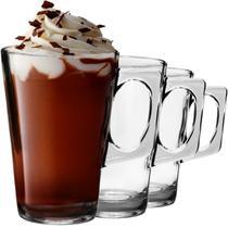 Conjunto 6pçs Xícara Café Cappuccino Chocolate Gourmet 250ml - Cabral Imports