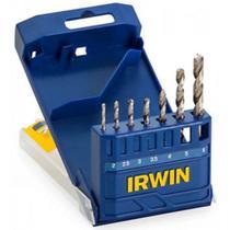 Conjunto 7  Brocas de Aço Cromado Irwin -