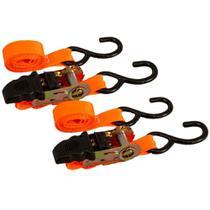 Conjunto Amarração Pratik Laranja 25mm 0,8T 4,6m com Cabo Emborrachado Embalagem com 2 Unidades -