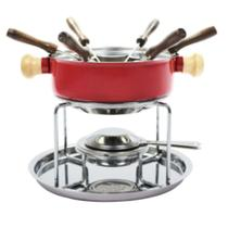 Conjunto Aparelho Para Fondue Aço Inox vermelho - Ravinox - 7896863805097 -