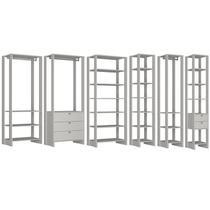 Conjunto Armarios Para Closet 6 Peças Yes EY101/2/3/4/5/6 Branco Nova Mobile -