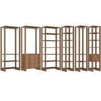 Conjunto Armarios Para Closet 6 Peças Yes EY101/2/3/4/5/6 Montana Nova Mobile -