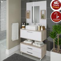 Conjunto Banheiro Completo Cuba Painel Balcão + Kit Hidráulico - Outlet Das Fabricas