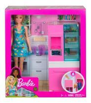 Conjunto Barbie Moveis E Acessorios Cozinha Mattel Dvx51 -