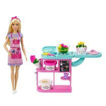 Conjunto Barbie Profissões Florista Loira Loja De Flores Com Massa De Modelar Mattel -