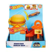 Conjunto Básico com Carrinho - Hot Wheels - Loja de Hambúrguer - Mattel -