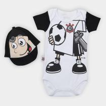 Conjunto Bebê Corinthians Mascote Body e Boné - Rêve dor