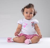 Conjunto Bebê Corinthians Rosa - Torcida Baby -