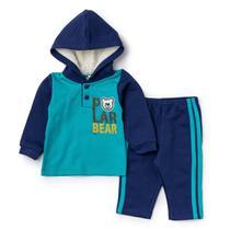 Conjunto Bebê Menino Blusão Bear com Capuz e Calça - Fantoni