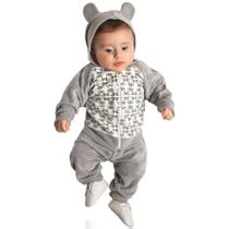 Conjunto Bebê Menino Plush Calça e Blusa Orelhinha - Hrradinhos