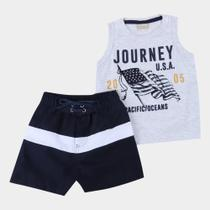 Conjunto Bebê Milon Journey USA Masculino -