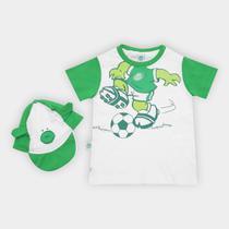 Conjunto Bebê Palmeiras Camiseta e Boné Porquinho - Rêve dor