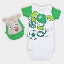 Conjunto Bebê Palmeiras Porquinho Body e Boné - Rêve dor
