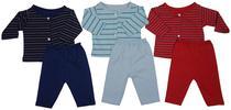 Conjunto Bebê Recém-nascido Menino - Kit Com 3 Unidades - Bambino