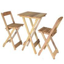 Conjunto Bistrô 01 Mesa Com 02 Cadeiras - Marcenaria Real