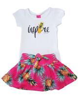 Conjunto Blusa e Saia-Shorts TMX  Inspire Pink / Tamanho 1 -