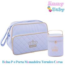 Conjunto Bolsa Maternidade Bolsa P e Porta Mamadeira Térmico - Lilian baby