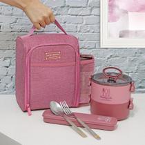 Conjunto Bolsa Térmica com marmita 2 andares e porta talher - Jacki Design