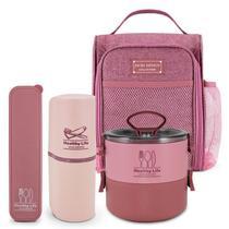 Conjunto Bolsa Termica com Marmita e porta talher e escova - Jacki Design