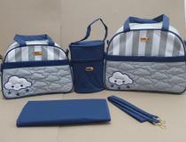 Conjunto Bolsas Maternidade 4 Peças Menino Nuvem Azul - Ludy Baby -