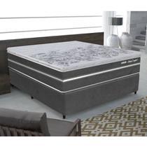 Conjunto Box Casal Sleep Confort 158X198 Gazin -