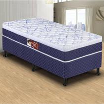 Conjunto Box Conjugado Solteiro Delta Ortopédico Azul Hellen - Hellen estofados