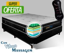 Conjunto Box Magnético Casal Confort Dream com Vibro Massageador 1,38x1,88x60 - Golddream