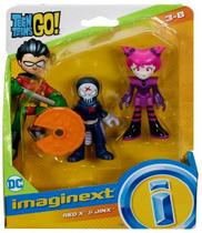Conjunto Brinquedo Mini Bonecos Imaginext Red X E Jinx - Jovens Titãs - Fisher Price -