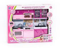 Conjunto Brinquedo Mini Cozinha Fogão Armários Panelas - Não Informada
