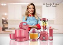 Conjunto Britânia Liquidificador Batedeira e Espremedor Sweet 127V Rosa Pink 110v - Britania