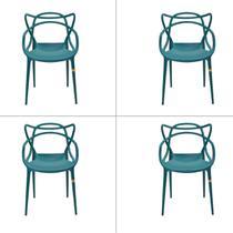 Conjunto Cadeira Allegra Masters de Polipropileno 4 Peças Rivatti -