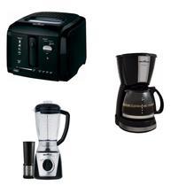 Conjunto Cafeteira, Liquidificador e Fritadeira 127V Britânia Preto -